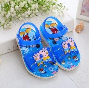 """Пляжные сандалии """"Свинка Пеппа"""" синие"""