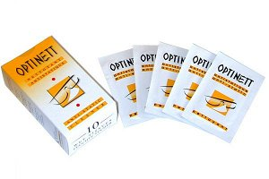 Optinett Влажн салф для очистки очковых линз 10 шт