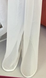 Вуаль МОЛОКО с утяжелителем 4м  (ткань Турция Luxe)