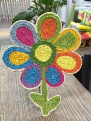 Аппликация из веревок Цветок