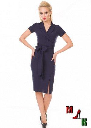 Платье синее,48 размера