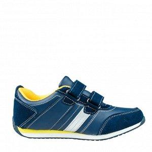 кроссовки для мальчика синий/серый