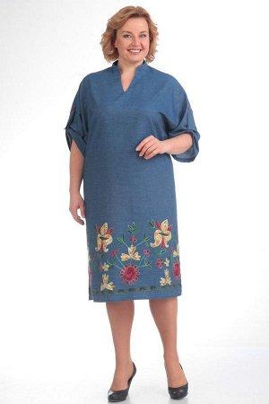 Продам шикарное летнее платье с вышивкой!