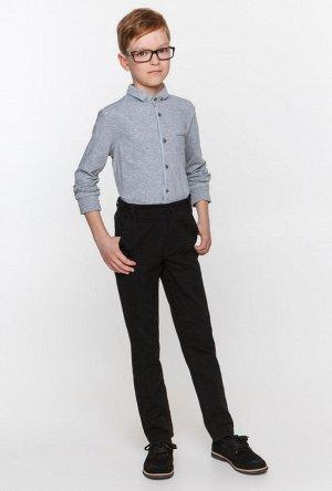 Трикотажная рубашка светло серая