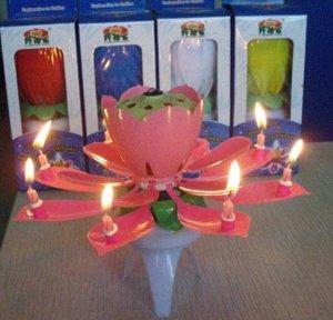 Музыкальная свеча Лотос
