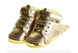 Ботиночки золотые с крылышками