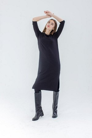 Базовое черное платье  МОЯFAKTURA.