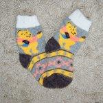 Носочки детские Винни Пух (серо-коричневые)