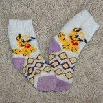Носочки детские Плуто (бело-фиолетовые)