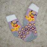 Носочки детские Плуто (фиолетово-серые)