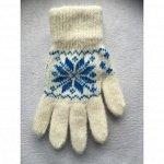 Перчатки женские Белые
