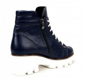 Ботинки кожа синий демисезон