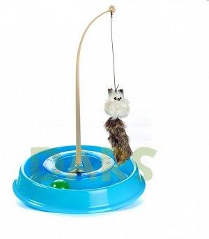Игрушка для кошек ТРЕКБОЛ открытый (27,5*27,5*4,7см)