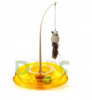Игрушка для кошек ТРЕКБОЛ открытый (прозрачный) (27,5*27,5*4,7см)