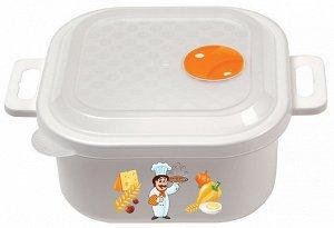 Емкость для холодильника и микроволновки 1,2л с декором