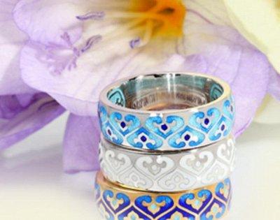 Божественная красота!* Эксклюзивное серебро, эмаль, обереги! — православные кольца (серебро + родий,позолота,эмаль) — Ювелирные кольца