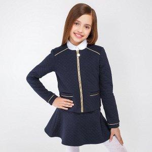 Жакет детский для девочек Risor темно-синий
