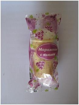 """В/ст с изюмом """"Ц.десерт"""" 70г (55 шт.)"""