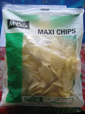 """Картофельные ломтики тонкие (чипсы) 2,5кг """"McCain"""""""