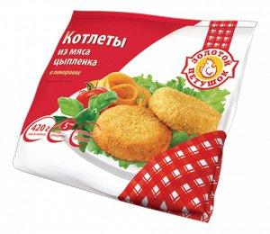 Котлеты из мяса цыплят в панировке вес. 6кг