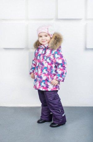 Костюм зимний 98 размер (куртка + полукомбинезон с натуральной опушкой)