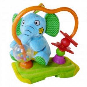 Игрушка на бампер коляски Счастливый слоненок,46,5*29*39 см