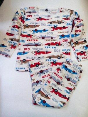 Пижама с гоночными машинами