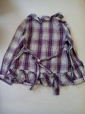 Блуза в клетку, сзади на завязках