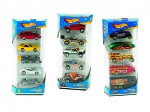 Набор машинок Mattel Hot wheels Подарочный 5 машинок376