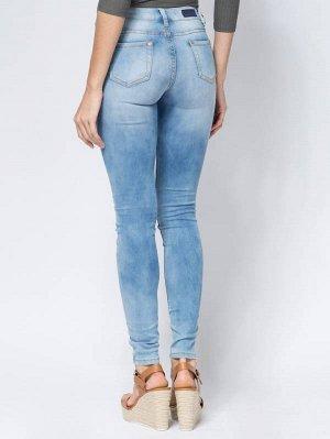 (604-2-jcoll) брюки джинсовые женские, длина 33. Голубой