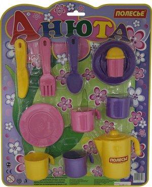 """Набор детской посуды """"Анюта"""" на 4 персоны (в блистере)"""