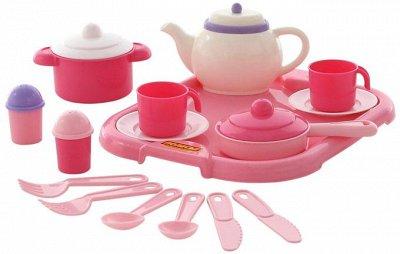 Полесье. Любимые игрушки из пластика. Успеем до повышения — Посудка Минутка, Анюта, Настенька — Посуда
