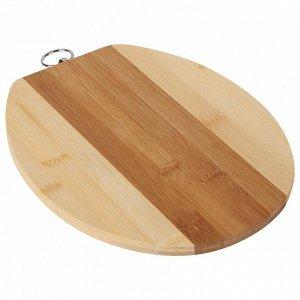 РД-00015 Доска разделочная  из бамбука (12) 24*20*1