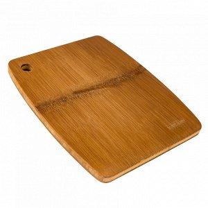 РД-10046 Доска разделочная  из бамбука (28*23*1,5см) (15)