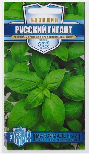 Базилик Русский гигант зеленый (Код: 70599)