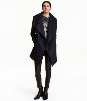 Пальто букле шерстьтемно-синий