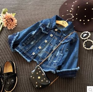 Куртка джин на девочку р.130-134