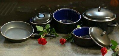 💥Успеваем!Вся посуда из Чехии!Традиция,качество.Аналогов нет —  EXCLUSIVE-толщина металла 2,0мм!Серия Lux-ХИТ! +сковорода  — Казаны и сотейники