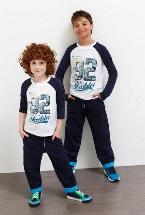 Джемпер детский для мальчиков Daw белый