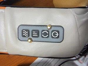 Массажер для шеи, плеч и спины с ИК-подогревом вращающийся Управление: 4 кнопки