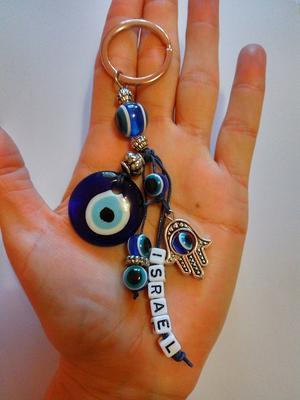 НЕТ!!! Брелок -оберег Хамса и глаз Фатимы (больш.глаз)