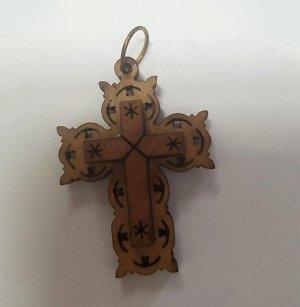 НЕТ!! Крестик ажурный с надписью - JERUSALEM