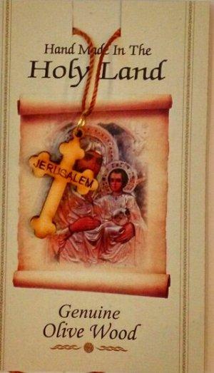 НЕТ!!! Крестик из оливкового дерева на веревочке
