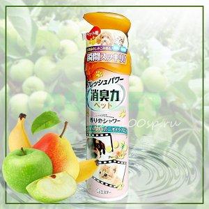 """""""ST"""" """"Shoushuuriki"""" Спрей-освежитель воздуха против запаха домашних животных с ароматом фруктового сада, 400мл мл"""