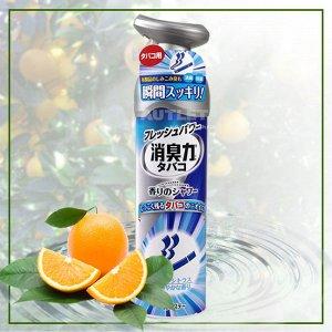 """""""ST"""" """"Shoushuuriki"""" Спрей-освежитель воздуха для комнат против запаха табака с ароматом апельсина, 280 мл"""
