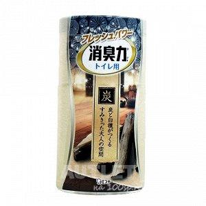 """""""ST"""" """"Shoushuuriki"""" Жидкий дезодорант – ароматизатор для туалета с ароматом древесного угля и сандалового дерева, 400 мл"""