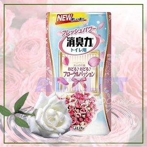 """""""ST"""" """"Shoushuuriki"""" Жидкий дезодорант – ароматизатор для туалета c ароматом белого букета, 400 мл"""