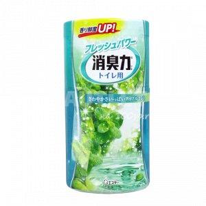 """""""ST"""" """"Shoushuuriki"""" Жидкий дезодорант – ароматизатор для туалета c ароматом яблочной мяты, 400 мл"""