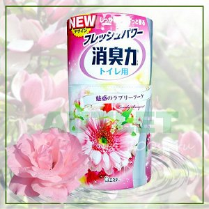"""ST"" ""Shoushuuriki"" Жидкий дезодорант – ароматизатор для туалета c ароматом розовых цветов, 400 мл"