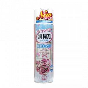 """""""ST"""" """"Shoushuuriki"""" Освежитель воздуха для туалета с ароматом белых цветов, 330 мл"""
